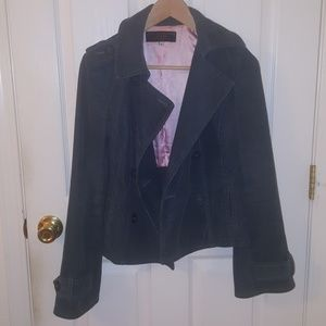 Juicy Couture Double-Breasted Corduroy Blazer